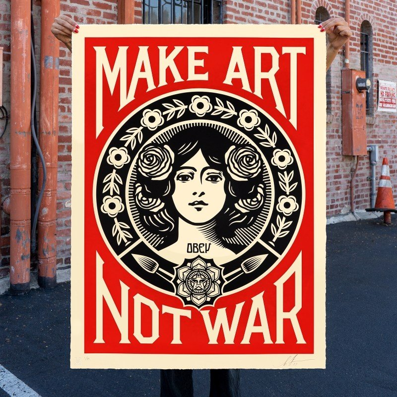 store.joelknafo-art.com Shepard Fairey - Make Art Not War (grand format)