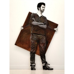 Levalet - On / Off - 2014 -Technique mixte - 180 x 110 cm