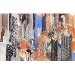 Gottfried Salzmann - New-York Diagonal - Aquarelle sur papier - 30x47cm - 2005